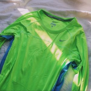 Neon Nike Running Long Sleeve